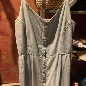 Old navy light chambray button down dress